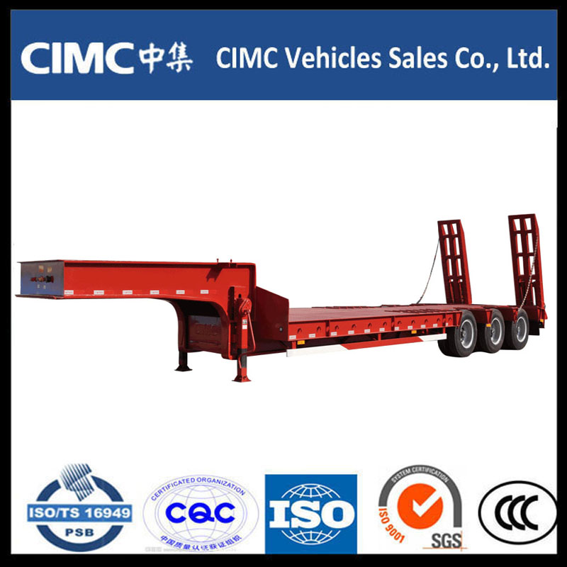 CIMC 3 Axle 70 ton Low Bed Semi Trailer