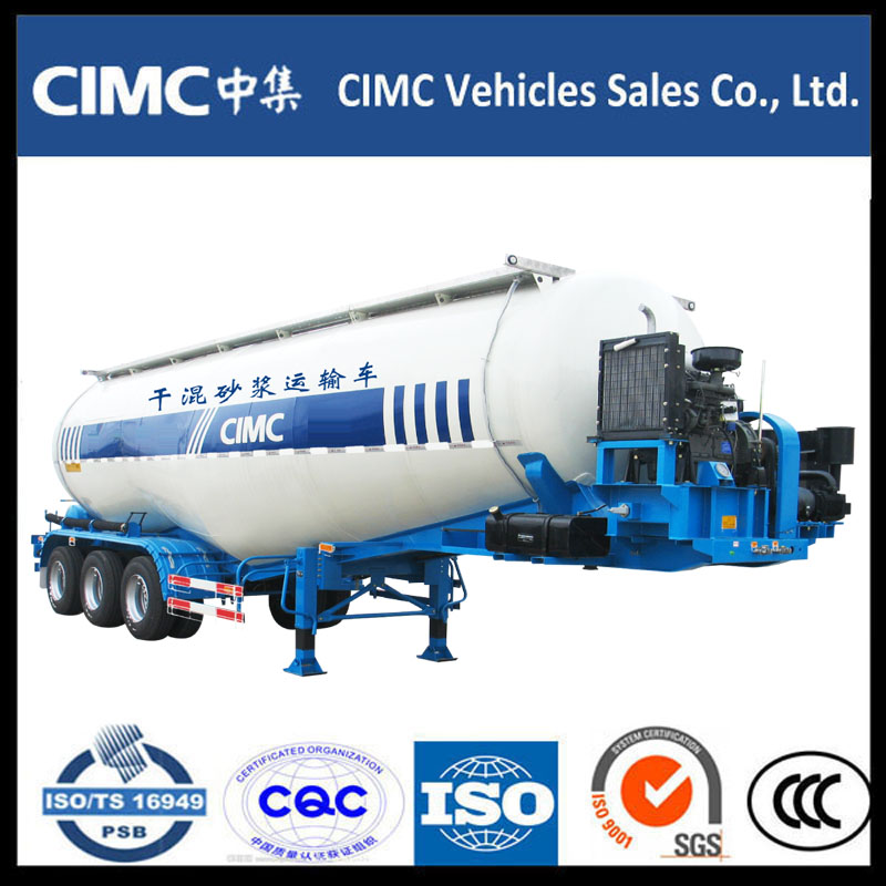 CIMC 3 Axle Bulk Cement Powder Tank Semi Trailer